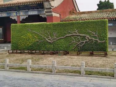 花朝节绿雕造型