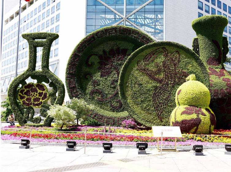 瓷器城市立体花坛