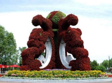 城市之珠立体花坛